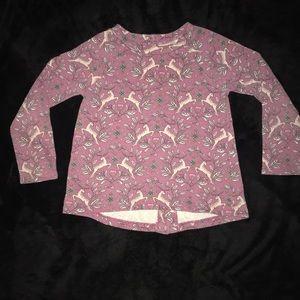 Genuine Kids from OshKosh sweater 5T deers purple